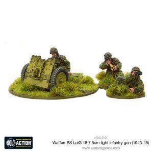 Warlord Games Bolt Action  Germany (BA) Waffen-SS LeIG 18 7.5cm light infantry gun (1943-45) - 403012101 - 5060393708155