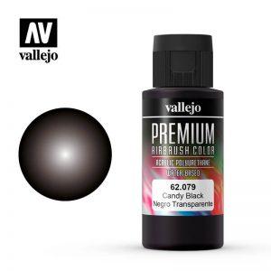Vallejo   Premium Airbrush Colour Premium Color 60ml: Candy Black - VAL62079 - 8429551620796