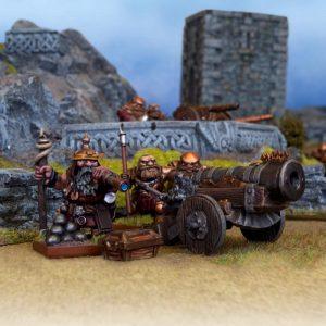 Mantic Kings of War  Dwarf Armies Dwarf Jarrun Bombard - MGKWD60-1 - 5060208866537