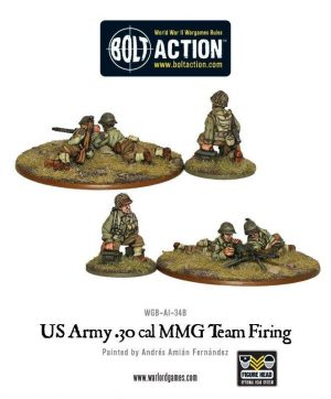 Warlord Games Bolt Action  United States of America (BA) US Army 30 Cal MMG team (firing) - WGB-AI-34 - 5060200847152