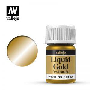 Vallejo   Liquid Gold Vallejo Liquid Rich Gold - VAL793 - 8429551707930
