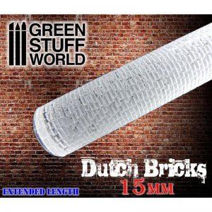 Green Stuff World   Rolling Pins Rolling Pin DUTCH BRICKS 15mm - 8436554368846ES - 8436554368846