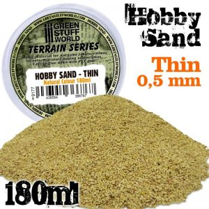 Green Stuff World   Sand & Flock Fine Hobby Sand 180ml - Natural - 8436554366767ES - 8436554366767