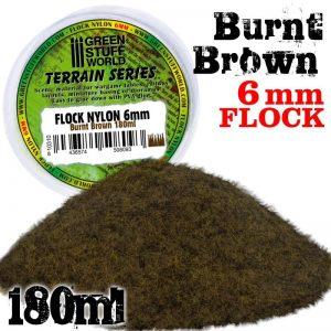 Green Stuff World   Sand & Flock Static Grass Flock 6 mm - BURNT Brown - 180 ml - 8436574508093 -