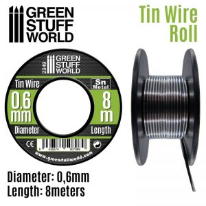 Green Stuff World   Metal Sheets & Wire Flexible tin wire roll 0.6mm - 8436574507089ES - 8436574507089