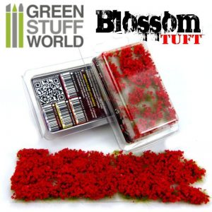 Green Stuff World   Tufts Blossom TUFTS - 6mm self-adhesive - RED Flowers - 8436554367795ES - 8436554367795