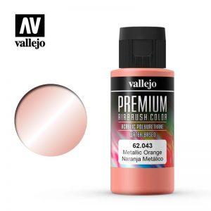 Vallejo   Premium Airbrush Colour Premium Color 60ml: Metallic Orange - VAL62043 -