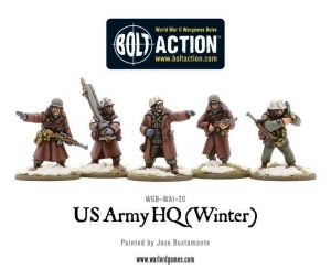 Warlord Games Bolt Action  United States of America (BA) US Army HQ (Winter) - WGB-WAI-20 - 5060393702917
