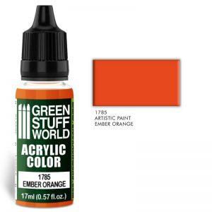 Green Stuff World   Acrylic Paints Acrylic Color EMBER ORANGE - 8436574501445ES - 8436574501445