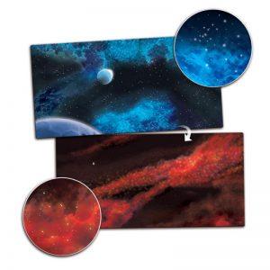 Gale Force Nine   Tabletop Gaming Mats Gaming Mat: Frozen Planet / Crimson Gas Cloud - BB955 - 9420020239838