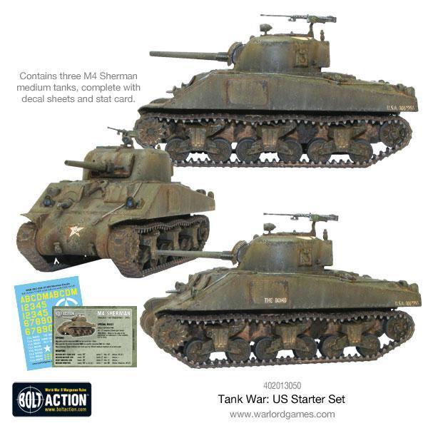 Warlord Games Bolt Action  Tank War Tank War: US starter set - 409913050 - 5060393707776