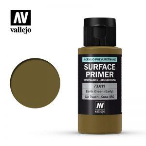 Vallejo   Model Air Primers AV Polyurethane - Primer Earth Green (Early) 60ml - VAL73611 - 8429551736114
