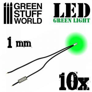 Green Stuff World   Lighting & LEDs LED Lights Green - 1mm - 8436554364121ES - 8436554364121
