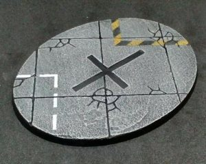 Baker Bases   Concrete Concrete: 120mm Oval Flyer Base (1) - CB-CN-01-FLY - CB-CN-01-FLY