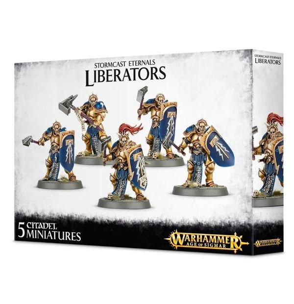 Games Workshop (Direct) Age of Sigmar  Stormcast Eternals Stormcast Eternals Liberators (5) - 99120218004 - 5011921061211