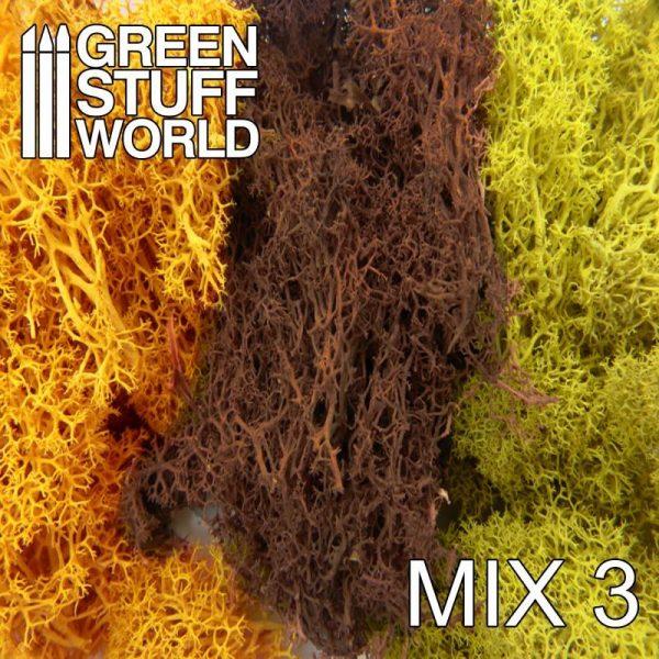 Green Stuff World   Lichen & Foliage Islandmoss - Yellow and Brown Mix - 8436554368266ES - 8436554368266