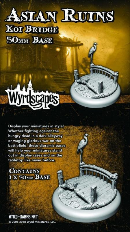 Wyrd   Asian Ruins Wyrdscapes Asian Ruins 50mm Base I - Bridge - WYRWS014 - 813856018774