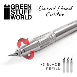 Green Stuff World   Green Stuff World Tools Metal Swivelhead HOBBY KNIFE - 8436574509601ES - 8436574509182