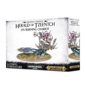 Games Workshop (Direct) Warhammer 40,000 | Age of Sigmar  Disciples of Tzeentch Herald of Tzeentch on Burning Chariot - 99129915030 - 5011921077328