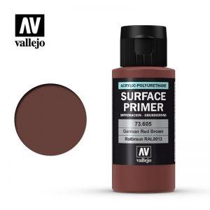 Vallejo   Model Air Primers AV Polyurethane - Primer Ge rman Red Brown (RAL 8012) 60ml - VAL73605 - 8429551736053