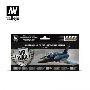 Vallejo   Paint Sets AV Model Air Set - Arm e de l'Air colors (post WWII) - VAL71627 - 8429551716277