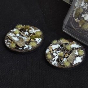 Gamers Grass   Battle-ready Winter Bases Winter Round 60mm (x2) - GGB-WR60 -