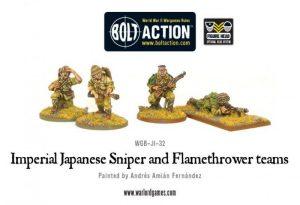 Warlord Games Bolt Action  Japan (BA) Imperial Japanese Sniper & Flamethrower teams - WGB-JI-32 - 5060200848814