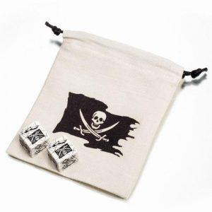 Q-Workshop   Q-Workshop Dice Pirate Dice & Bag (2+1) - SPIR02 - 5907699491216