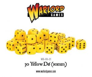 Warlord Games   D6 30 Yellow D6 (10mm) - WG-D6-31 - 5060200848258