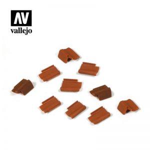 Vallejo   Vallejo Scenics Vallejo Scenics - 1:35 Roof Tiles Set - VALSC229 - 8429551984683