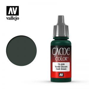 Vallejo   Game Colour Game Color: Dark Green - VAL72028 - 8429551720281