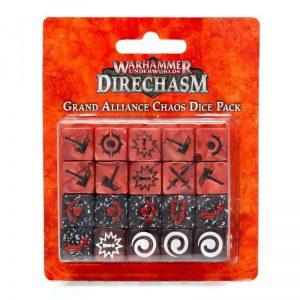 Games Workshop (Direct) Warhammer Underworlds  Warhammer Underworlds Underworlds Grand Alliance Chaos Dice Pack - 99220799017 - 5011921146321