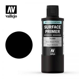 Vallejo   Metal Colour Primer: Gloss Black 200ml - VAL74660 - 8429551746601