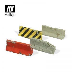 Vallejo   Vallejo Scenics Vallejo Scenics - 1:35 Damaged Concrete Barriers - VALSC215 - 8429551984850