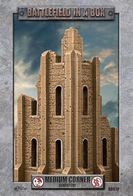 Gale Force Nine   Battlefield in a Box Gothic Battlefields - Medium Corner - Sandstone - BB612 - 9420020248915