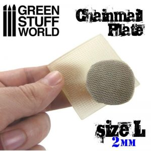 Green Stuff World   Texture Plates / Presses Texture Plate - ChainMail - Size L - 8436554368716ES - 8436554368716