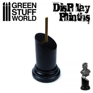 Green Stuff World   Display Plinths Tapered Round Bust Plinth 3.5x3.5cm Black - 8436574501742ES - 8436574501742