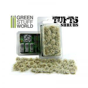 Green Stuff World   Tufts Shrubs TUFTS - 6mm self-adhesive - WHITE - 8436554363070ES - 8436554363070