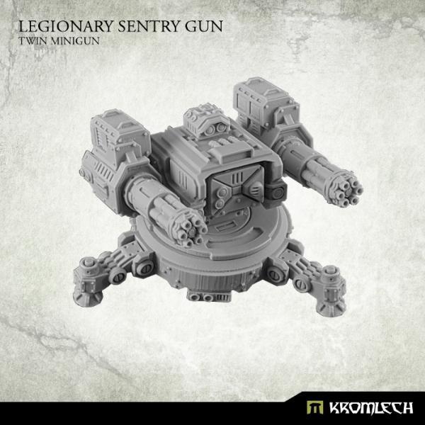 Kromlech   Legionary Model Kits Legionary Sentry Gun: Twin Mini Gun (1) - KRM092 - 5902216113602