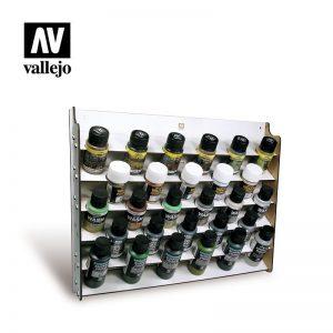 Vallejo   Paint Racks AV Acrylics - Wall Mounted Paint Display (35/60ml) - VAL26009 - 8429551260091