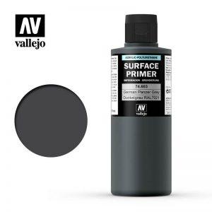 Vallejo   Model Air Primers AV Polyurethane - Primer Germa n Panzer Grey (RAL 7021) 200ml - VAL74603 - 8429551746038