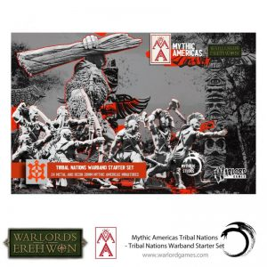 Warlord Games Warlord of Erehwon | Mythic Americas  Warlords of Erehwon Tribal Nations Warband Starter Set - 722214001 - 5060572508712