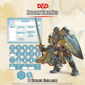 Gale Force Nine Dungeons & Dragons  D&D Extras D&D: Paladin Token Set (Player Board & 27 tokens) - GFN72508 - 9420020251144
