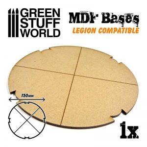 Green Stuff World   MDF Bases MDF Bases - Round 150mm (Legion) - 8435646502328ES - 8435646502328