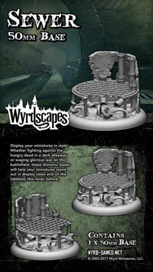 Wyrd   Sewer Bases Wyrdscapes Sewer 50mm Base - WYRWS006 - 813856018569