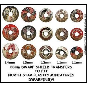 North Star Oathmark  Oathmark Dwarf Shield Transfers 4 - DWARF(NS)4 -