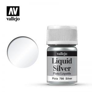 Vallejo   Liquid Gold Vallejo Liquid Silver - VAL790 - 8429551707909
