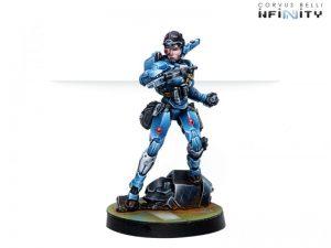 Corvus Belli Infinity  PanOceania Patsy Garnett, Orc Troops Varuna Div. NCO (Submachine Gun) - 281209-0769 - 2812090007696