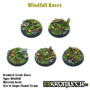 Kromlech   Windfall Bases Windfall round 32mm (5) - KRRB024 - 5902216113060