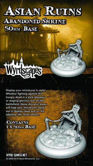 Wyrd   Asian Ruins Wyrdscapes Asian Ruins 50mm Base II - Ruins - WYRWS013 - 813856018767
